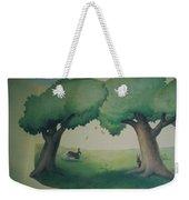 Bunnies Running Under Trees Weekender Tote Bag