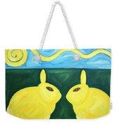 Bunnies Talking Weekender Tote Bag