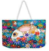 Bunny And Flowers Weekender Tote Bag