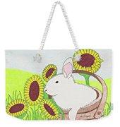 Bunny In A Basket Weekender Tote Bag