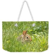 Bunny In The Grass Weekender Tote Bag