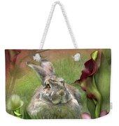 Bunny In The Lilies Weekender Tote Bag