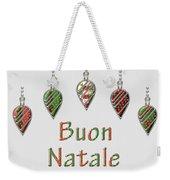 Buon Natale Italian Merry Christmas Weekender Tote Bag