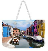 Burano Canal And Homes Weekender Tote Bag
