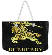 Burberry - Black And Gold - Lifestyle And Fashion Weekender Tote Bag