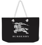 Burberry - Black And White - Lifestyle And Fashion Weekender Tote Bag