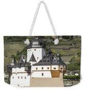 Burg Pfalzgrafenstein And Burg Gutenfals Squared Weekender Tote Bag