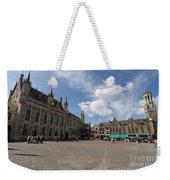Burg Square In Bruges Belgium Weekender Tote Bag