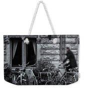 Burgandy Blur Weekender Tote Bag