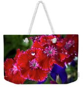 Burgandy Red Dianthus Weekender Tote Bag
