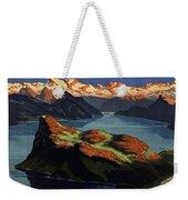 Burgenstock - Lake Lucerne - Switzerland - Retro Poster - Vintage Travel Advertising Poster Weekender Tote Bag