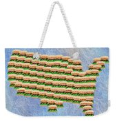 Burger Town Usa Map Weekender Tote Bag