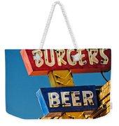 Burgers And Beer Weekender Tote Bag