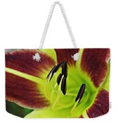 Burgundy And Yellow Lily Weekender Tote Bag