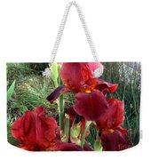 Burgundy Iris Flowers Weekender Tote Bag