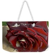 Burgundy Rose Weekender Tote Bag