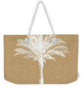 Burlap Palm Tree- Art By Linda Woods Weekender Tote Bag