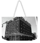 Burlington North Carolina - Main Street Bw Weekender Tote Bag