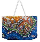 Burning City Weekender Tote Bag