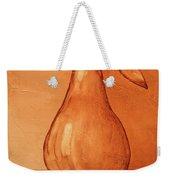 Burnt Sienna Pear Weekender Tote Bag