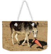 Burro Playing With Safety Cone Weekender Tote Bag