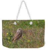Burrowing Owl And Flowers Weekender Tote Bag