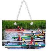 Burton Canoe Race At The Start Weekender Tote Bag