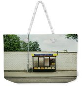 Bus Stop In Poland Weekender Tote Bag