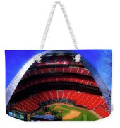 Busch Stadium A Zoomed View From The Arch Merged Image Weekender Tote Bag