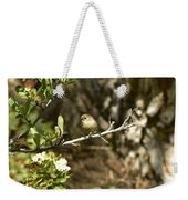 Bushtit On Branch In The Sun Weekender Tote Bag