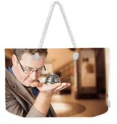 Business Man With Service Bell. Consumer Advice Weekender Tote Bag