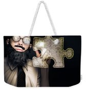 Businessman Puzzle Solving With Digital Solutions Weekender Tote Bag