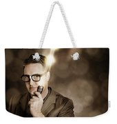 Businessman With Bright Solution Idea Weekender Tote Bag