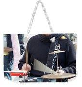 Busking Drummer Weekender Tote Bag