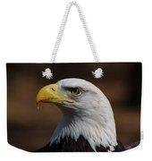 bust image of a Bald Eagle Weekender Tote Bag