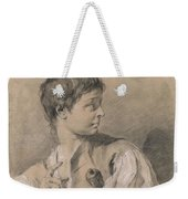 Bust Of A Boy In Profile Holding A Sword Weekender Tote Bag