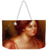 Bust Of A Woman In A Red Blouse Weekender Tote Bag