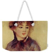 Bust Of A Woman Wearing A Hat 1881 Weekender Tote Bag
