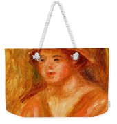 Bust Of A Young Girl In A Straw Hat 1917 Weekender Tote Bag