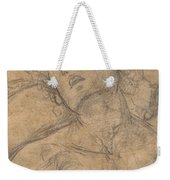 Bust Of A Youth Looking Upward [recto] Weekender Tote Bag