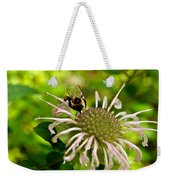 Busy As A Bee Weekender Tote Bag by Valeria Donaldson
