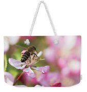 Busy Bee On A Crabapple Tree Weekender Tote Bag