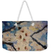 Busy Bumble Bee And Blossom.  Weekender Tote Bag
