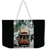 Busy Day On The California Street Cable Car Incline Weekender Tote Bag