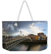 Busy Ha'penny Bridge 4 Weekender Tote Bag
