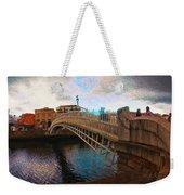 Busy Ha'penny Bridge  Weekender Tote Bag