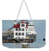 Busy Harbor Of Lorain Weekender Tote Bag