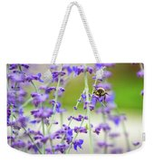 Busy In Lavender 3 Weekender Tote Bag