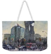 Busy Morning In Downtown Mississauga Weekender Tote Bag