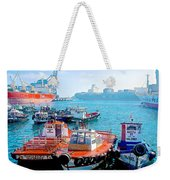 Busy Port Of Valparaiso-chile Weekender Tote Bag